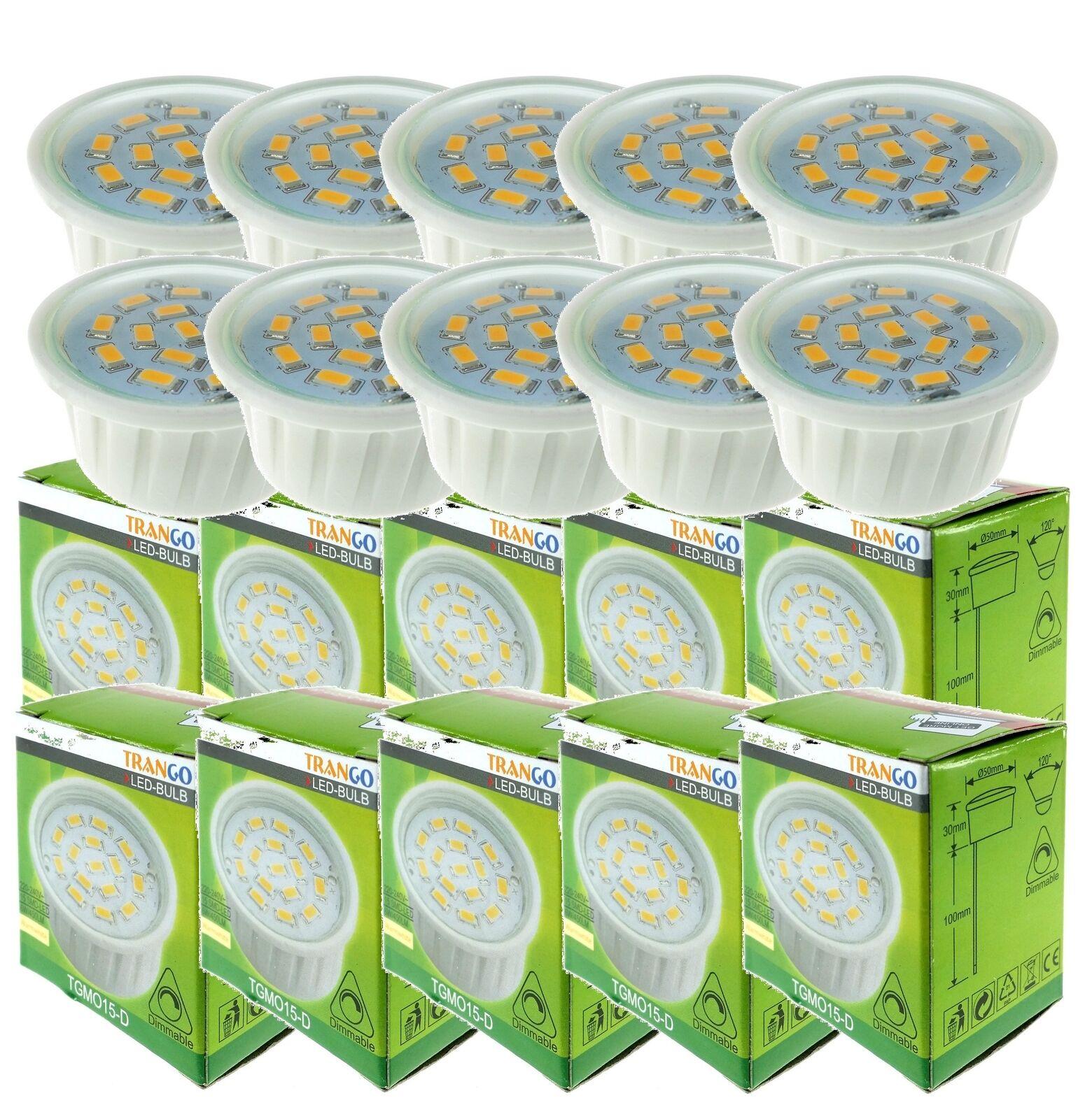 10 X trango módulo LED Regulable 6 Vatios blancoo Cálido para lámparas tgmo 15-D