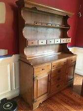 Vintage Ethan Allen Baumritter Maple Hutch & Buffet.  Great for china storage!