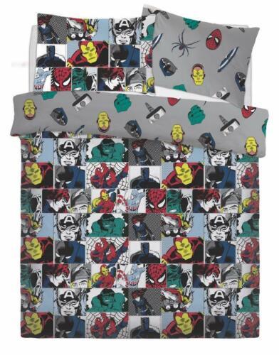 Marvel Colour Pop Pattern Luxury Disney Duvet Cover Sets Reversible Bedding Sets