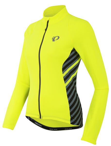 Pearl Izumi Women's Select Pursuit Thermal Bike Jersey Yellow Stripe Medium