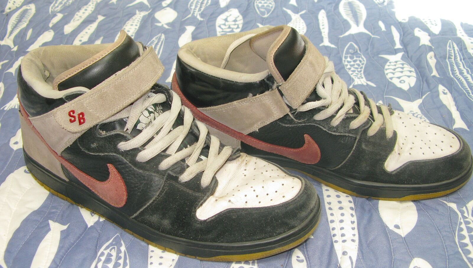 33241325600372 Nike SB Dunk Shoes Mid Premium Guns N Roses November November November Rain  RARE SIZE Men