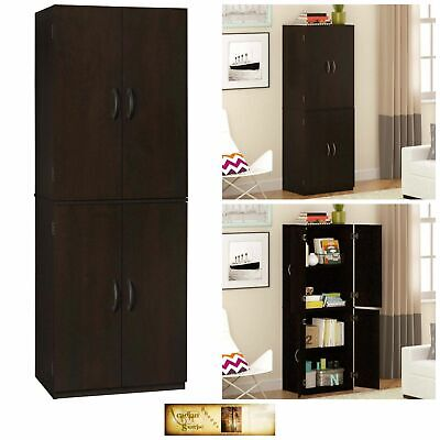 Kitchen Pantry Storage Cabinet Organizer Wood Furniture Multipurpose Cherry Deco