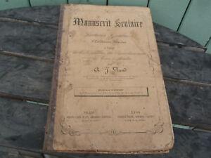 manuscrit-Scolaire-lectures-Graduees-ecritures-A-J-VIAUD-1876-Calligraphie