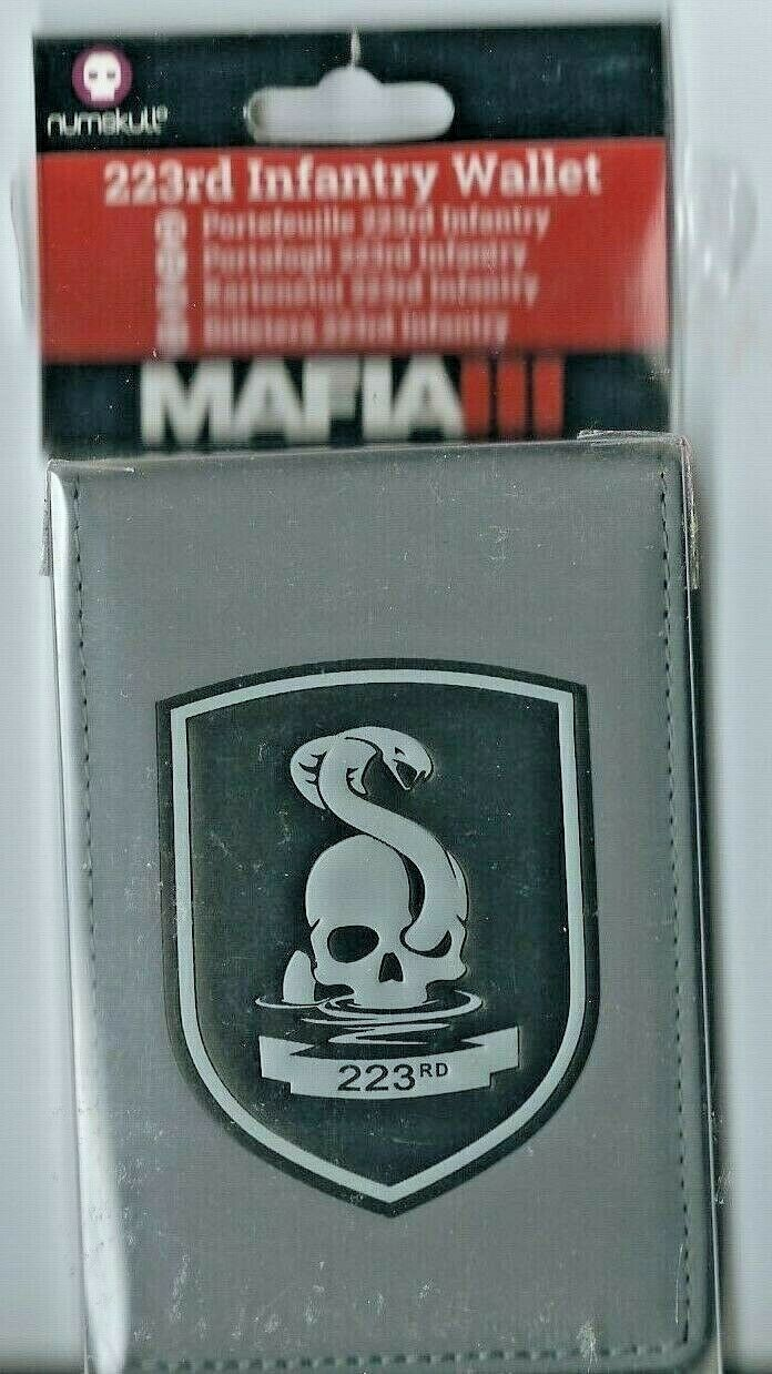 Official 223rd Infantry Wallet Military Bicast Leather NEW Mafia 3 PS4 XB1 NEW