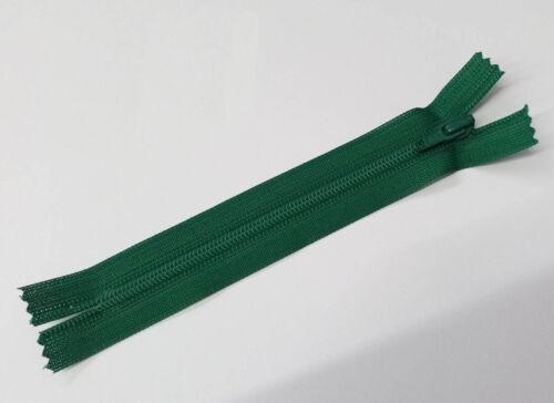 12-60 cm Plastique, non sécables YKK Fermeture éclair vert 878