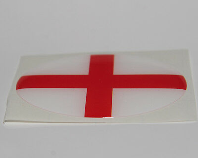 St George/'s England Resin Domed 3D Flag Car Badge Oval Sticker
