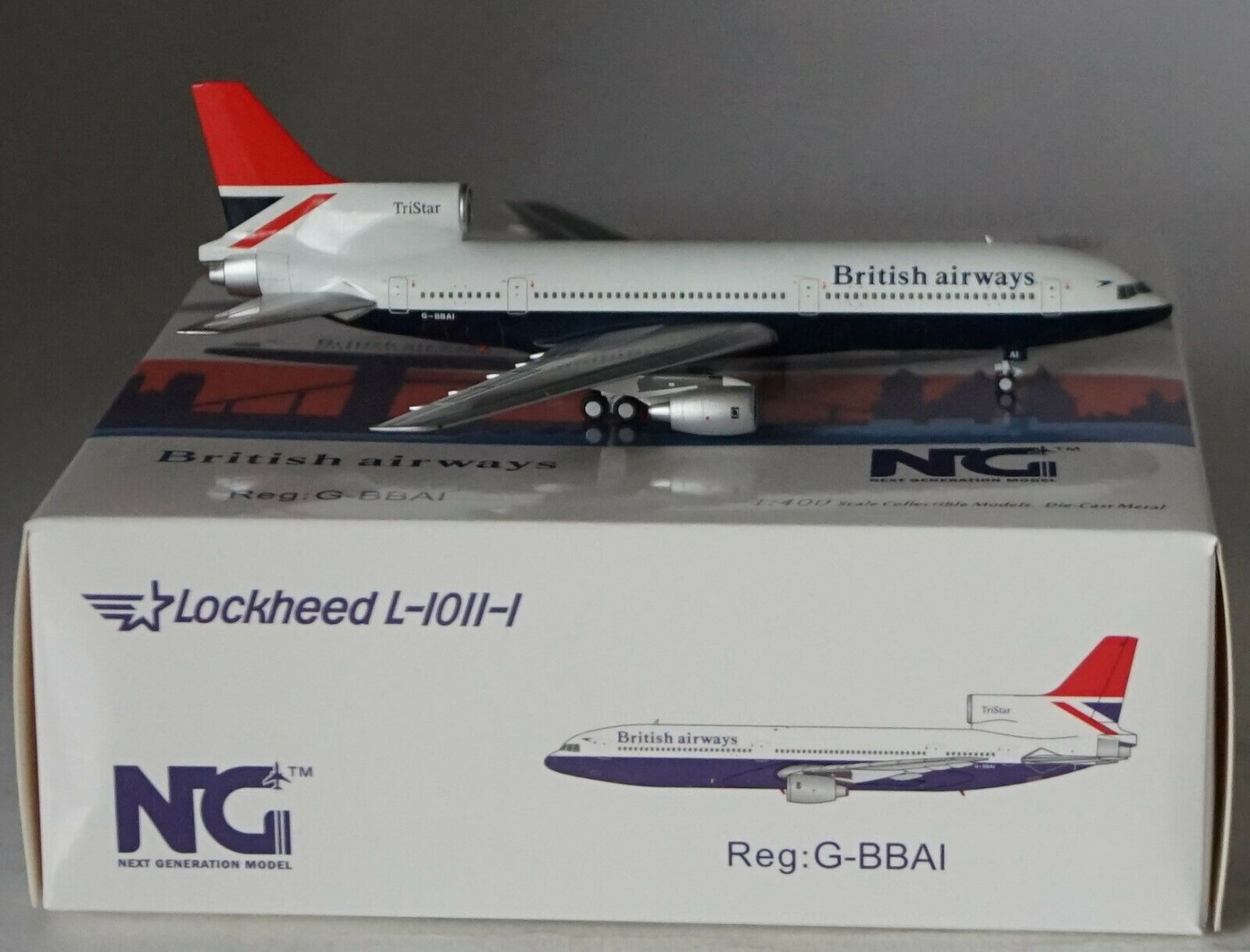 NG Modele 31008 Lockheed L-1011-100 British Airways G-Bbai in 1 400 Maßstab