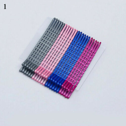 24Pcs 5cm Multicolor Hair Clips Bobby Pins Wavy Hairpins Metal Barrettes Sweet