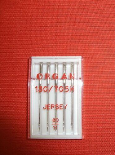 + nm 80 Órgano plana pistón agujas System 130//705 h jersey