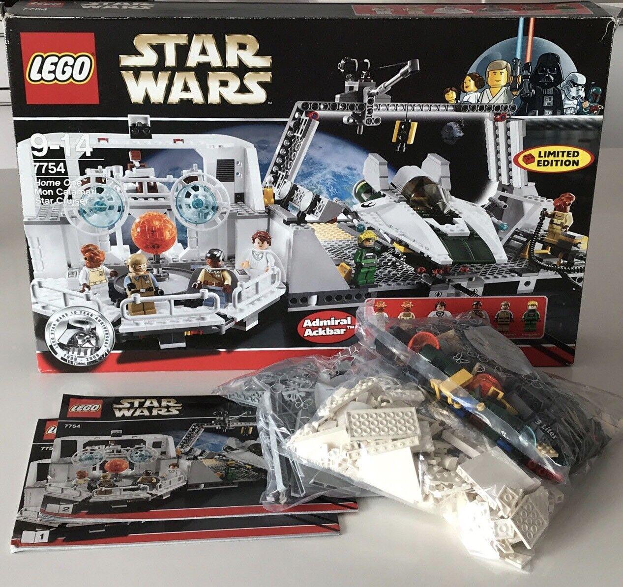 LEGO STAR WARS 7754 Home One Mon Calamari Star Star Star Cruiser Komplett + BA + OVP ebcb68