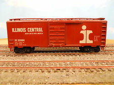 HO SCALE KAR-LINE ILLINOIS CENTRAL IC 22094 (TUSCAN/BROWN) 40' BOX CAR RTR