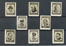 NEDERLAND 1937 ca   8 x  FOTO STAMPS  LUCHTVAART AVIATION   THICK PAPER NO GUM