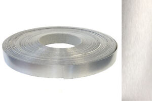 Kantenumleimer Abs 22mm X 25m Mit Schmelzkleber In Echt Aluminium Alu Geburstet Ebay