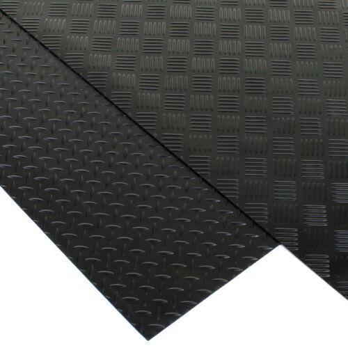 Black rubber flooring mat heavy duty floor matting garage