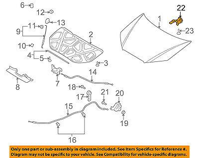 Parts N Go 2007-2010 Elantra Sedan Hood Hinges Driver /& Passenger Side LH//RH 791102H000 HY1236120