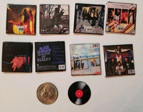 "Dollhouse Miniature Record Album 1/"" 1//12  Barbie  Black Sabbath Ozzy Heaven Hell"