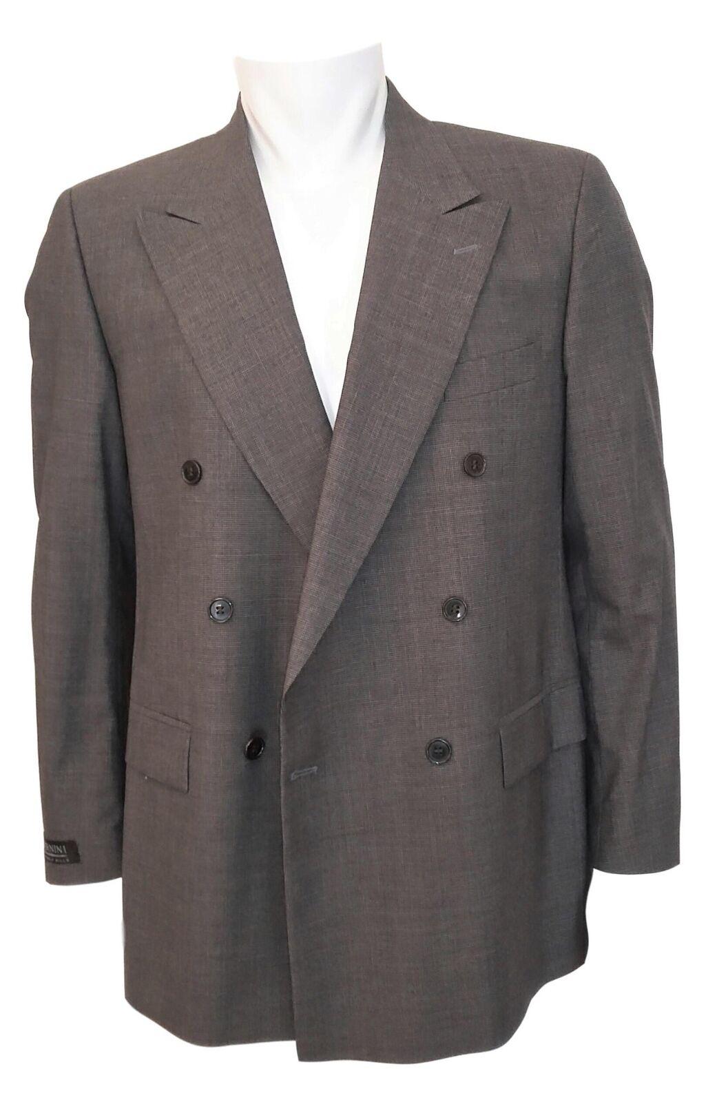 NEW Bernini Beverly Hills Double Breasted Wool Suit  Herren Sz 50R/34 - Braun B1380