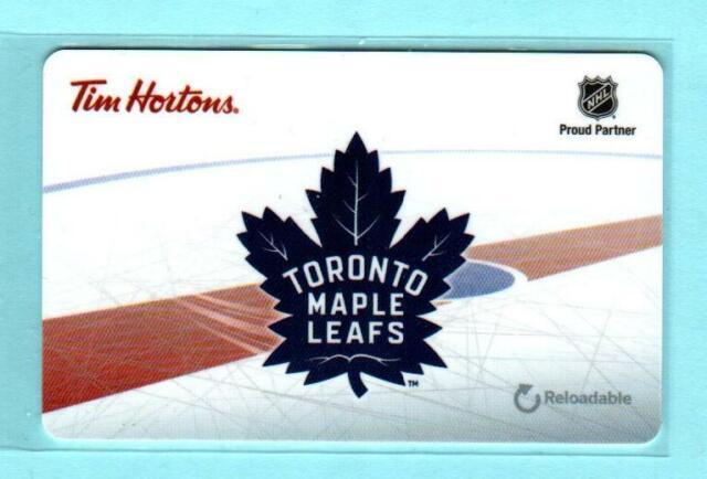TIM HORTONS ( Canada ) Toronto Maple Leafs 2016 Gift Card ( $0 )