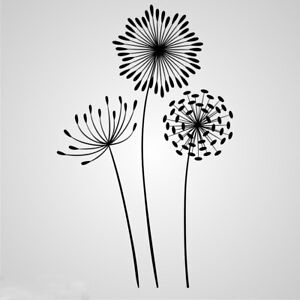 Dandelions Plant Reusable Stencil Sizes A5 A4 A3 Romantic Shabby Chic Craft Flora  F20