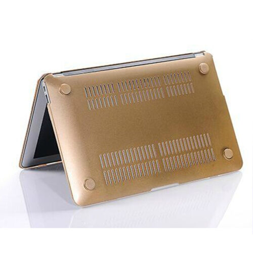 """2in1 Champagne Gold Metallic Frosted Case Cover for Macbook Air Pro 11/"""" 13/"""" 15/"""""""