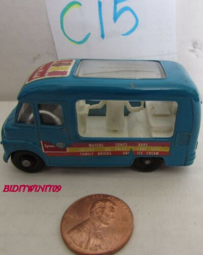 MATCHBOX LESNEY COMMER ICE CREAM CANTEEN ENGLAND W+