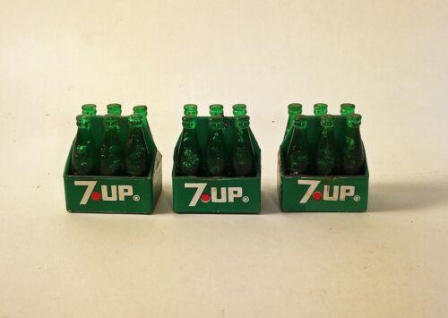 12 in Figure 3 Vintage 1960s 7 Up Bottle 6 Packs scaled for Barbie /& GI Joe