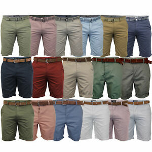 Mens-Chino-Shorts-Threadbare-Cotton-Oxford-Belted-Loyalty-amp-Faith-Seven-Series