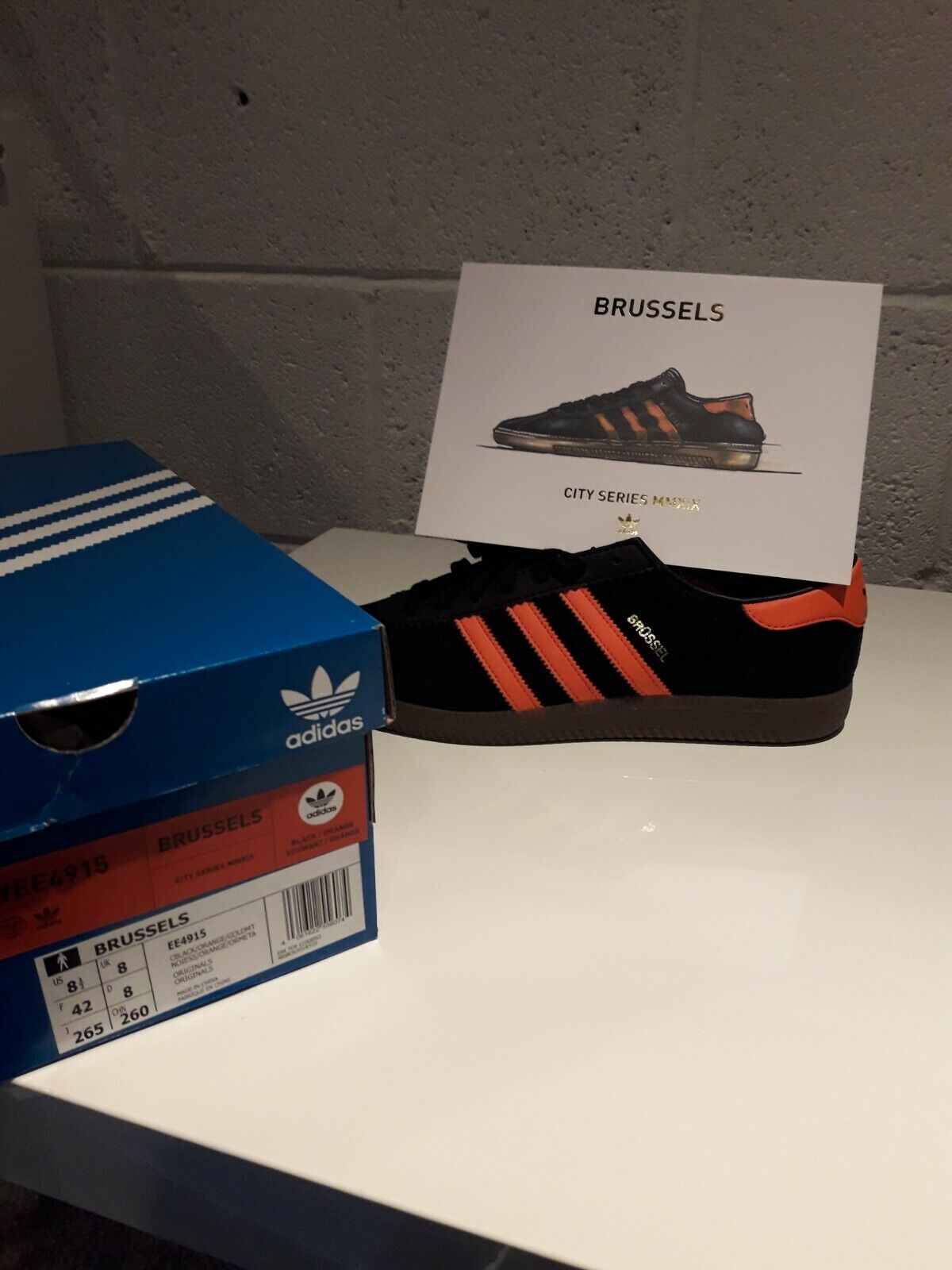 Adidas Brussel 8 Brand New un-worn with box and card etc