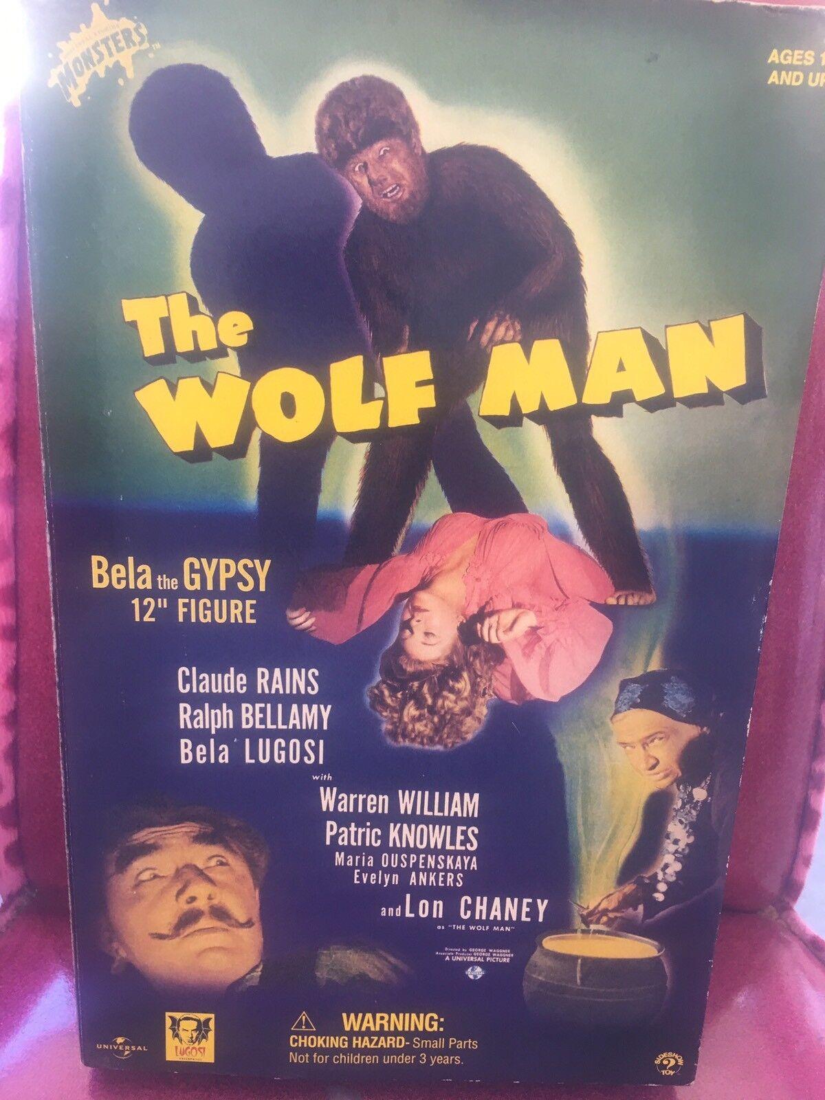 El Lobo Bela Lugosi 12 1/6 Acción Figura Muñeca Sideshow Bela el gitano nunca quitado de la caja