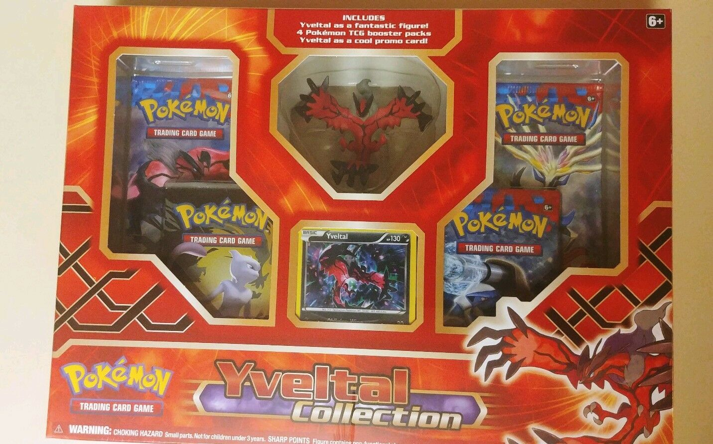 Yveltal XY LEGENDS Figure Collection Box Factory Sealed Official POKEMON TCG