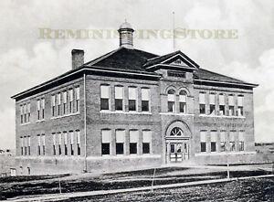 Pawnee City Nebraska >> Pawnee City Ne High School C 1900 Reprint Vintage Photography Ebay