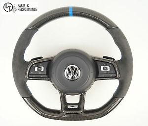 le illustr e carbon alcantara volant pour vw golf 7 avec boutons balancent galement pour golf. Black Bedroom Furniture Sets. Home Design Ideas