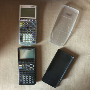TI-83-Plus-Clear-TI-85-Lot-of-2-Calculators-NOT-WORKING-For-Repair-Parts