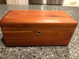Miniature Cedar Chest Jewelry Box