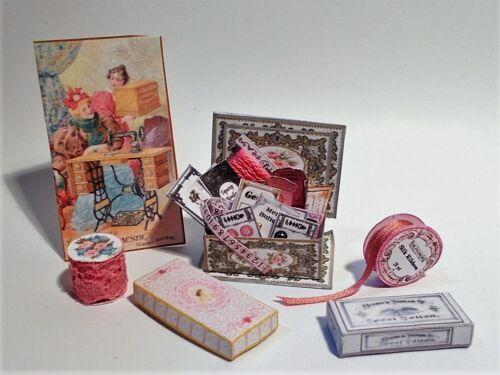 Casa De Muñecas printie Kit-Mercería Coser Shop #3 Miniatura 1//12th