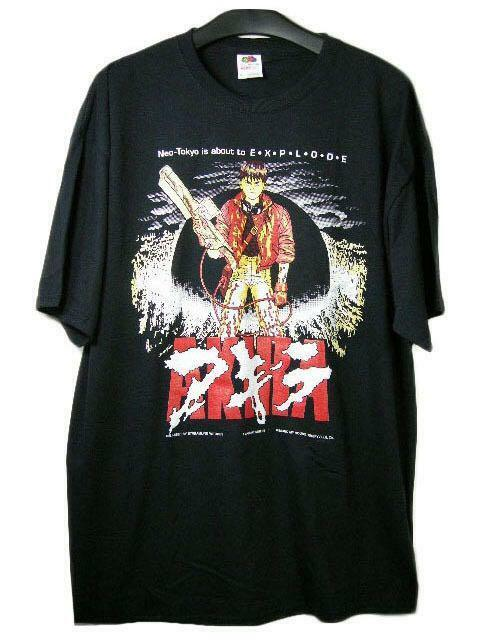 FRUIT OF THE LOOM HEAVY COTTON 100% AKIRA Vintage T shirt Mens Size XL New