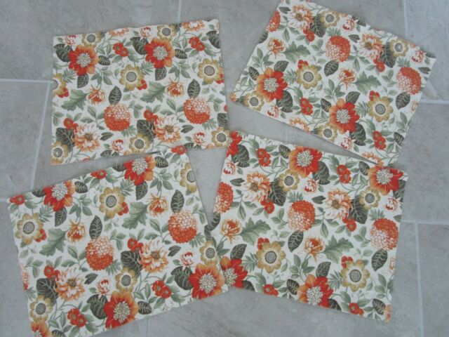 Set Of 4 Floral Placemats For Sale Online