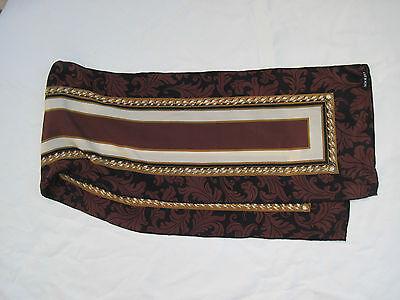 -authentique Echarpe Adolfo 100% Soie Tbeg Vintage Scarf
