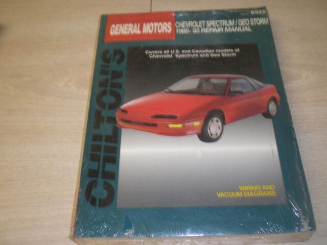 1985 1993 chevrolet spectrum geo storm chilton repair manual in