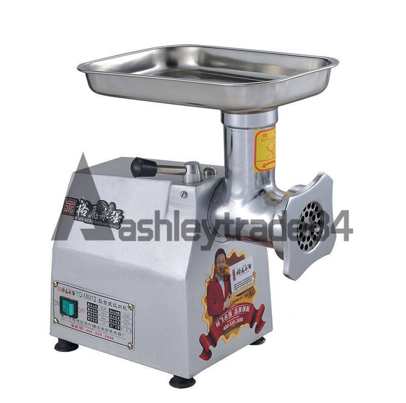 220v Commercial stainless steel 220kg h Watt Electric Meat Grinder 0.9kw YQ-22B