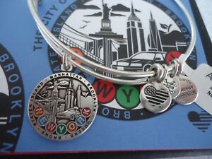 767a00ca6 Alex and Ani NEW YORK CITY Russian Silver Charm Bangle New W/Tag ...