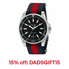 Gucci Men's YA136210 Dive XL Red and Blue Nylon Watch