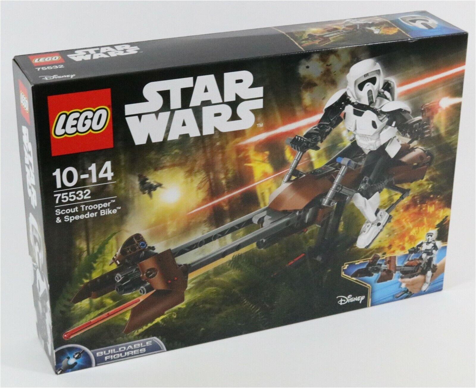 LEGO STAR WARS 75532 SCOUT TROOPER BUILDABLE FIGURE & SPEEDER Fahrrad SET - BNIB