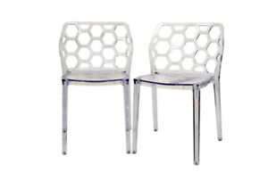 2-Clear-Honeycomb-Patio-Dining-Chairs-Transparent-Clear-Ghost-Polycarbonate