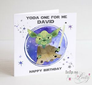 Star Wars Yoda Birthday Card Boyfriend Husband Ebay