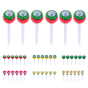6-Pieces-Durable-Plastic-amp-Rubber-Golf-Tees-80mm-Cute-Fruit-Tees