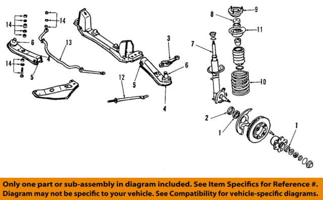 Suspension Control Arm and Ball Joint Assembly Front Left Lower fits 89-94 240SX