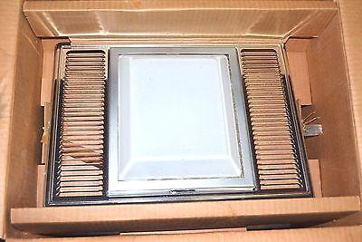 Nutone 9665 New Vintage Heat Exhaust Vent Amp Light Anodized Aluminum Complete New Ebay