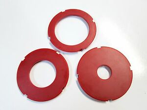 Router table insert ring set 97mm od fits sears craftsman ryobi image is loading router table insert ring set 97mm od fits greentooth Images