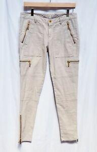 Michael-Michael-Kors-Women-039-s-Moto-Pants-Jeans-Zipper-Pockets-Ankle-Zip-Size-6